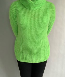 Green Turtleneck Trui